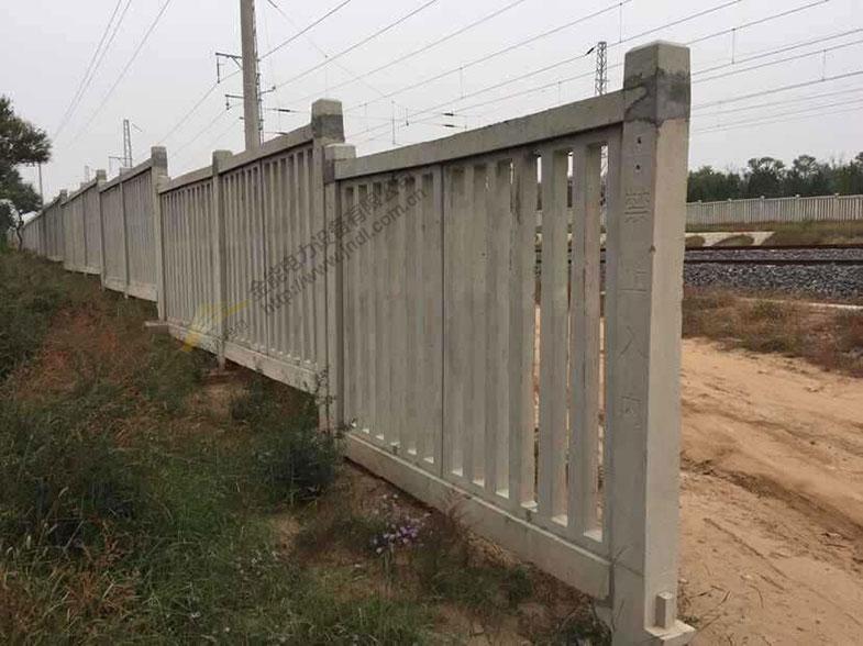 铁路线路防护栅栏|水泥护栏|高铁